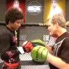 Freddie Roach coaches on The Ultimate Fighter