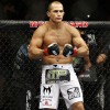 Junior Dos Santos does 'Showtime Kick' off the fence