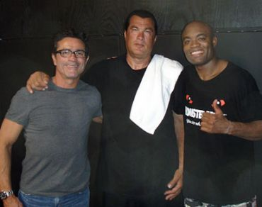 Steven Seagal with Anderson Silva
